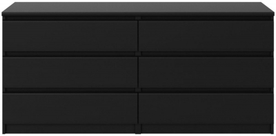 Naia Black Matt 6 Drawer Chest