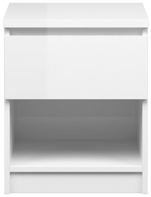 Naia White High Gloss 1 Drawer Bedside Cabinet