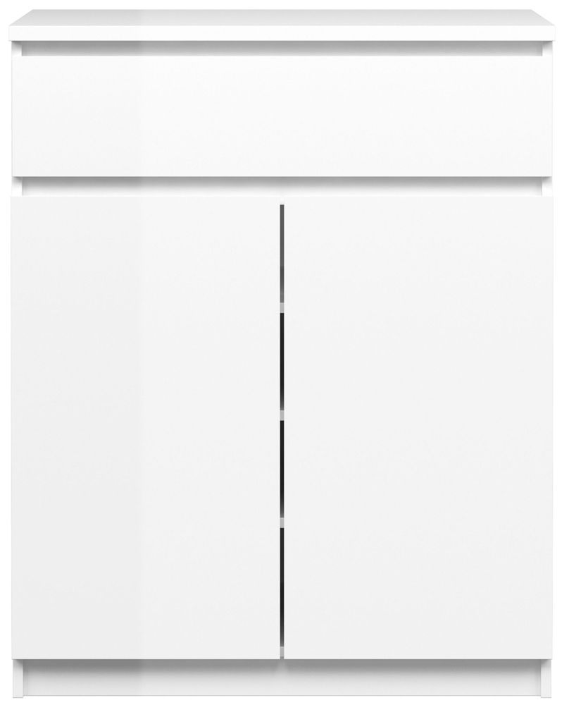 Naia White High Gloss Sideboard