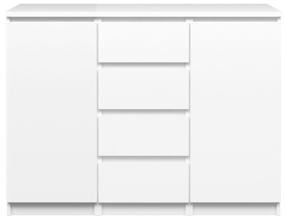 Naia White High Gloss 2 Door 4 Drawer Sideboard