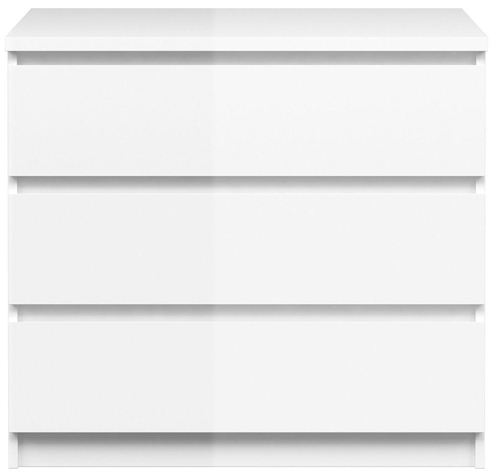 Naia White High Gloss 3 Drawer Chest