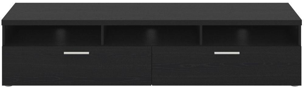 Napoli Black Woodgrain Wide TV Unit