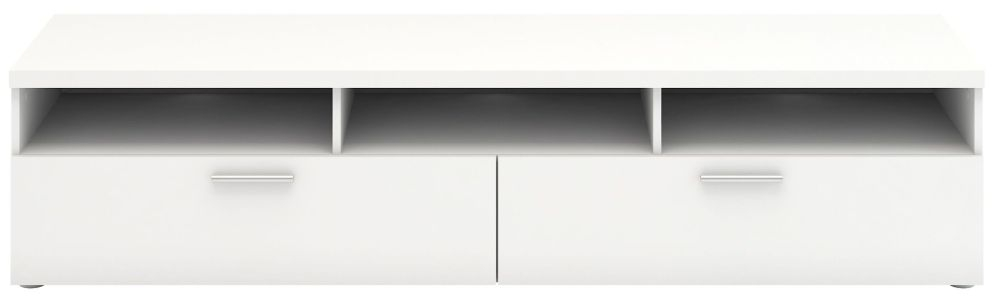 Napoli White Wide TV Unit