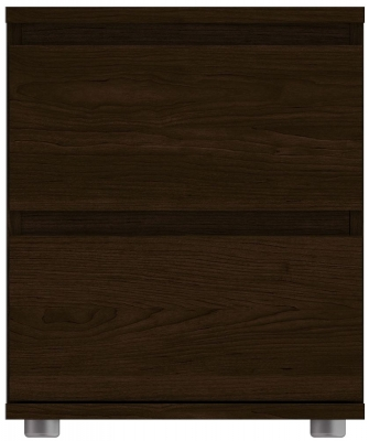Nova Dark Walnut Bedside Cabinet