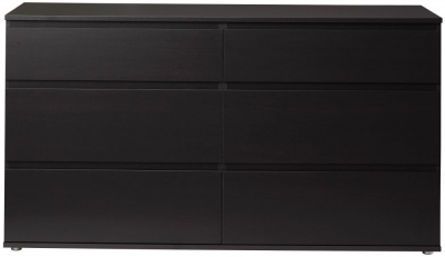 Nova Dark Walnut 6 Drawer Wide Chest