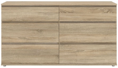 Nova Oak 6 Drawer Wide Chest