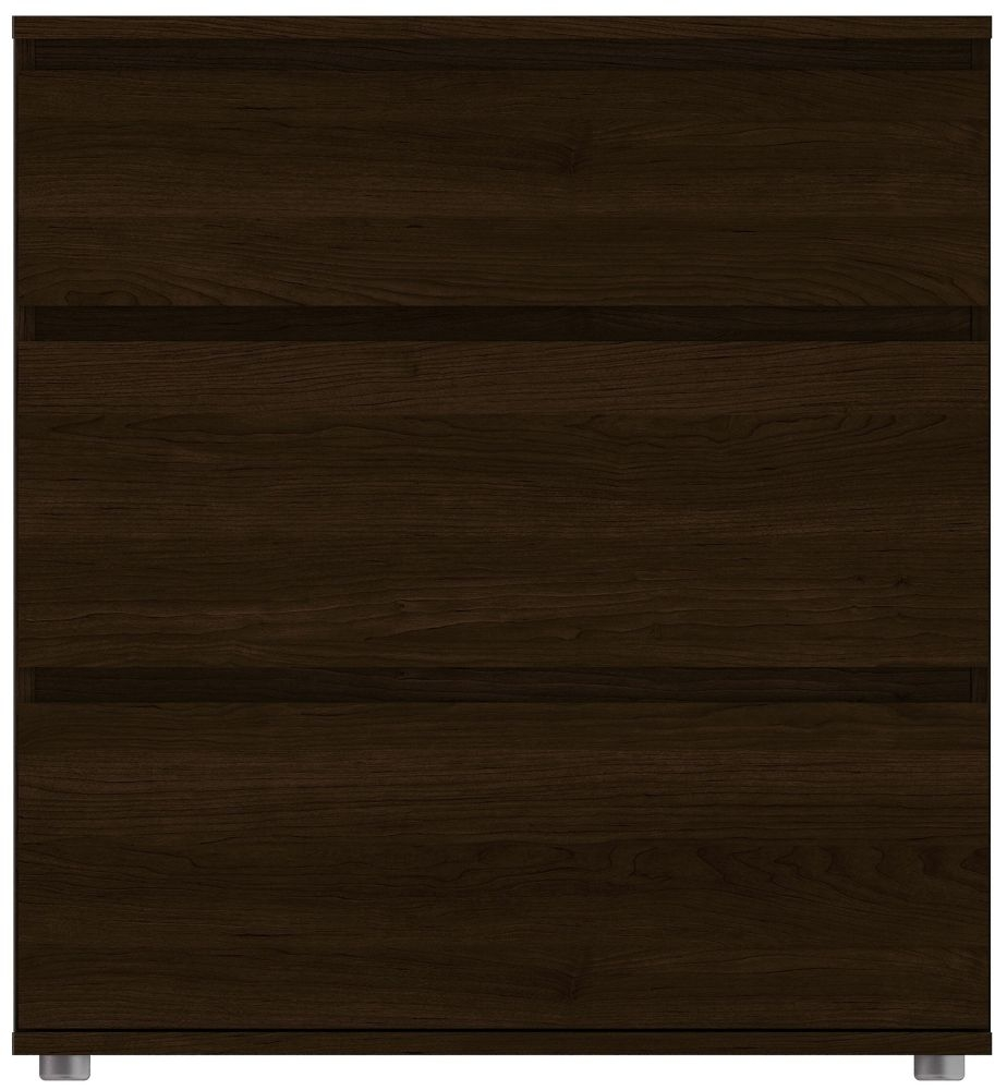 Nova Dark Walnut 3 Drawer Chest