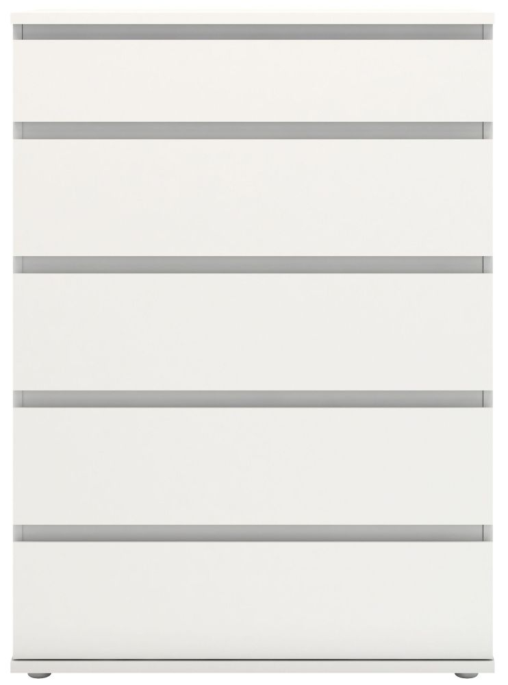 Nova White 5 Drawer Chest
