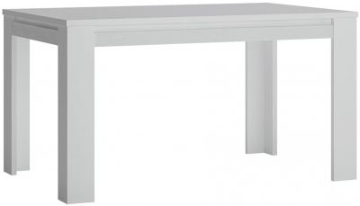 Novi Alpine White 140cm-180cm Extending Dining Table
