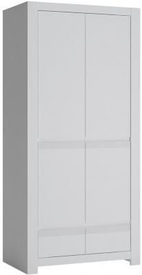 Novi Alpine White 2 Door Wardrobe