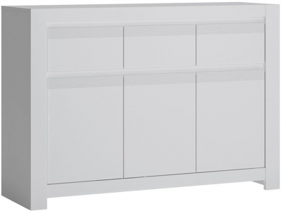 Novi Alpine White 3 Door Sideboard