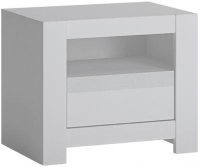 Novi Alpine White Bedside Table