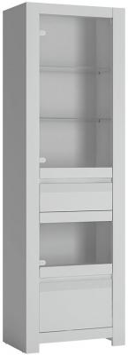 Novi Alpine White Display Cabinet