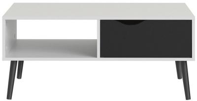 Oslo Storage Coffee Table - White and Black Matt