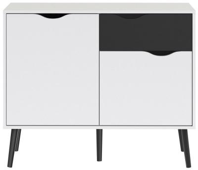 Oslo Sideboard - White and Black Matt