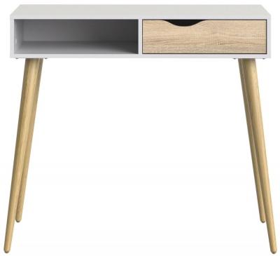 Oslo Console Table - White and Oak