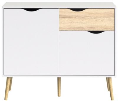 Oslo Sideboard - White and Oak