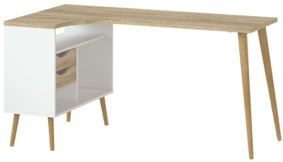 Oslo Desk - White and Oak