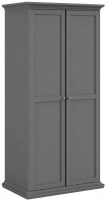 Paris Matt Grey 2 Door Wardrobe