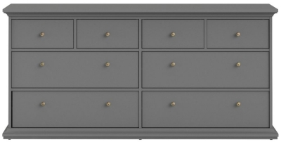 Paris Matt Grey 8 Drawer Chest