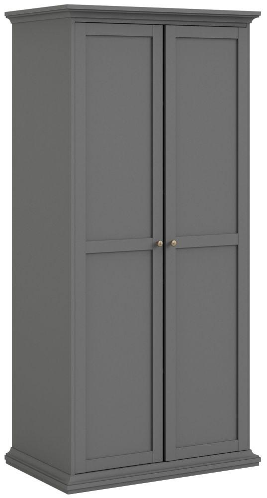 Paris Matt Grey 2 Door Wardrobe