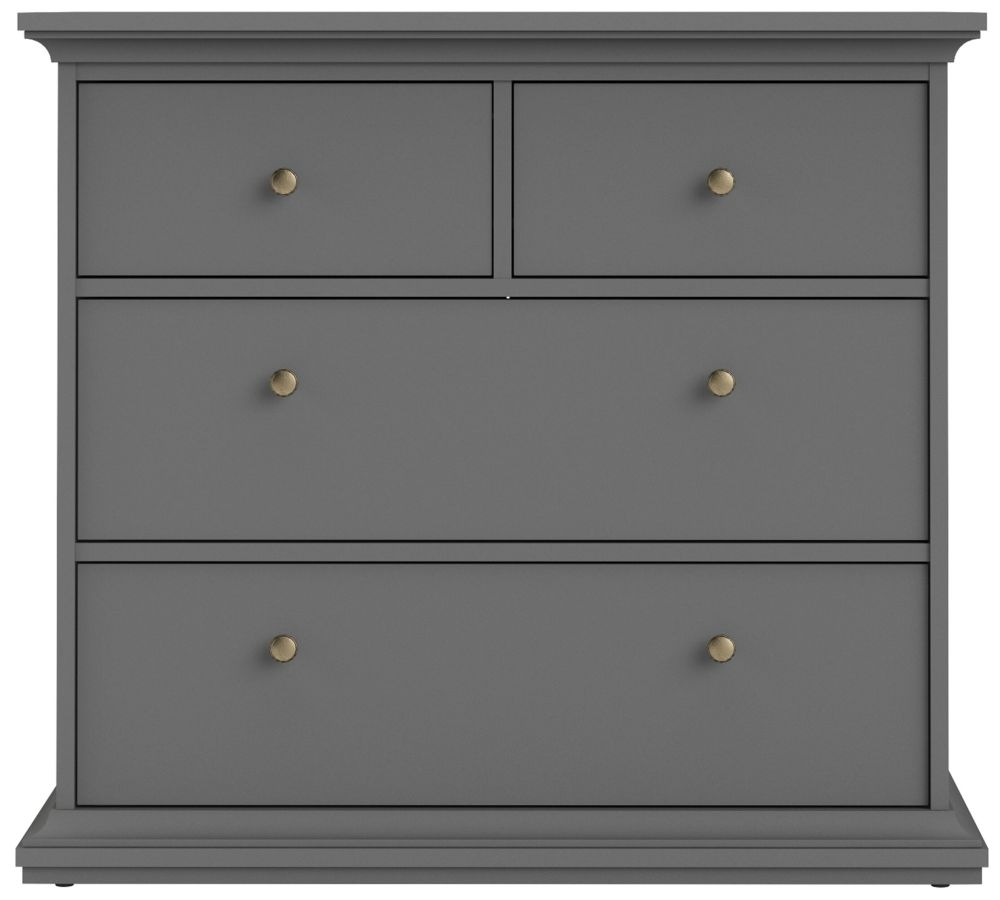 Paris 4 Drawer Chest - Matt Grey