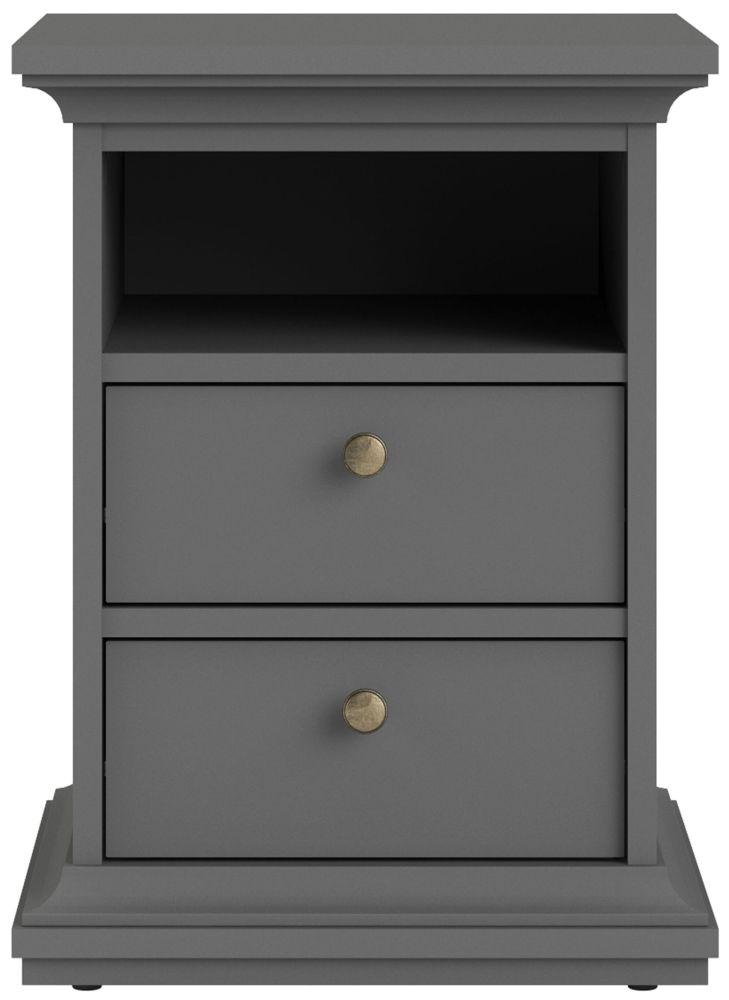 Paris Matt Grey Bedside Cabinet