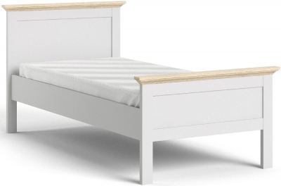 Paris Oak and White 3ft Single Bed