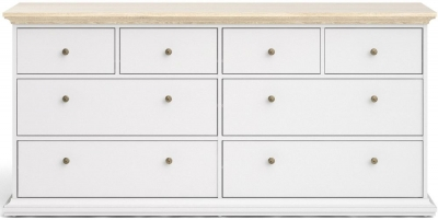 Paris Oak and White 4+4 Drawer Chest
