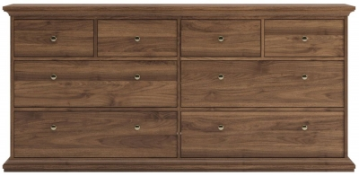 Paris Walnut 8 Drawer Chest