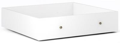 Paris White Underbed Storage Drawer for Single Bed