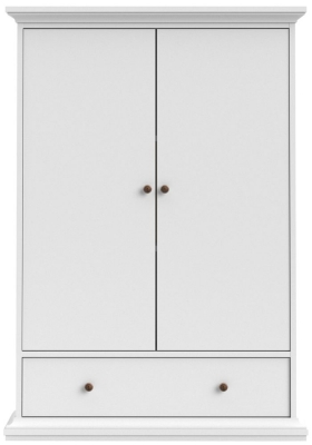 Paris White 2 Door Combi Wardrobe
