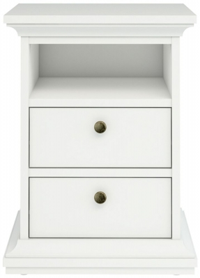 Paris White Bedside Cabinet