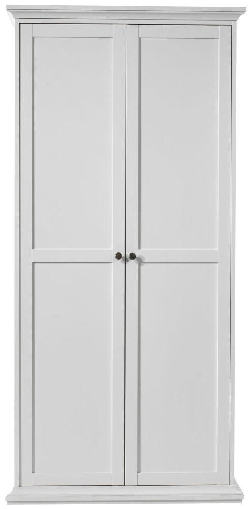 Paris White 2 Door Wardrobe