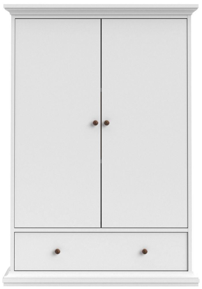 Paris White 2 Door Combi Wardrobe