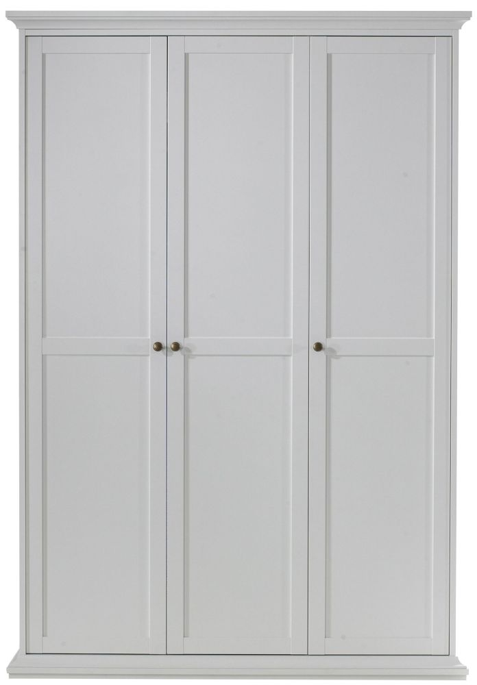 Paris White 3 Door Wardrobe