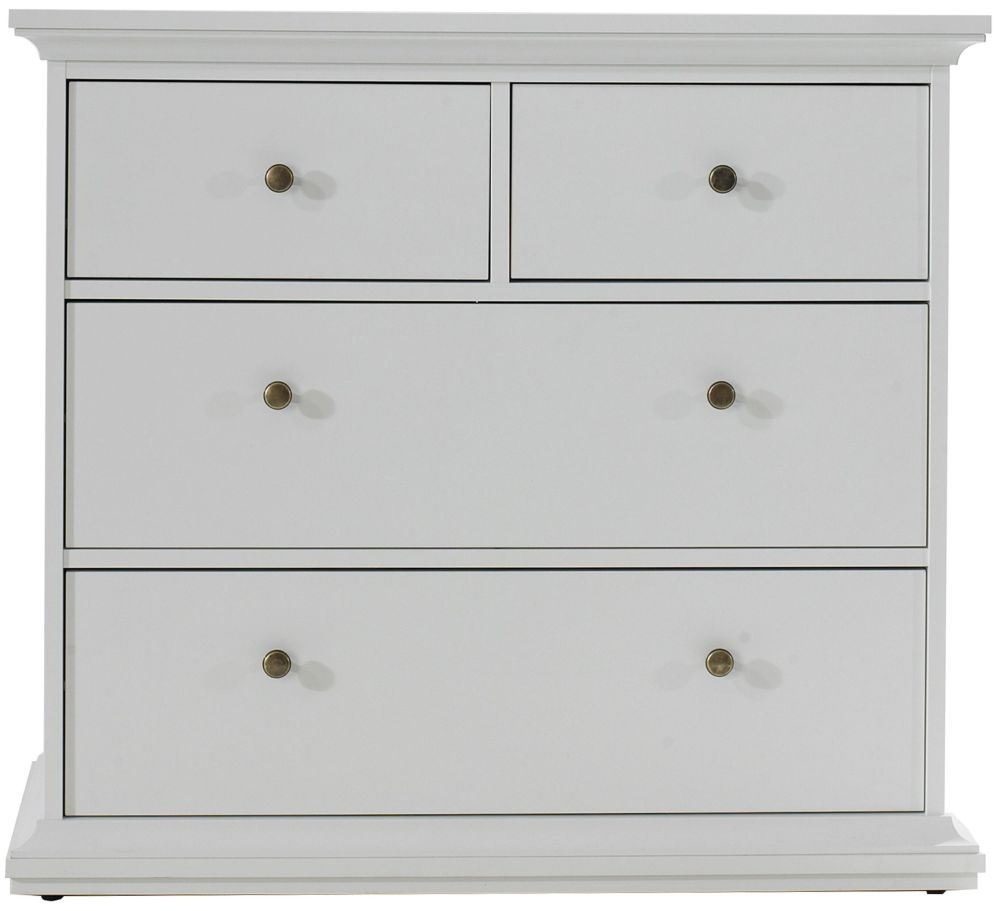 Paris White 4 Drawer Chest