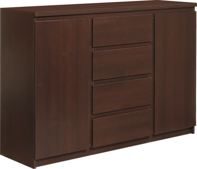 Pello Dark Mahogany Sideboard - 2 Door 4 Drawer