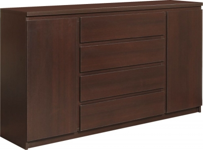 Pello Dark Mahogany Sideboard - Extra Wide 2 Door 4 Drawer
