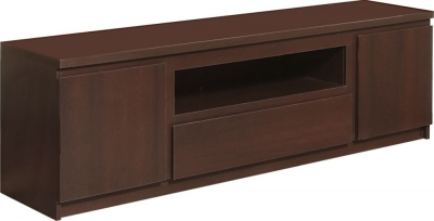 Pello Dark Mahogany TV Cabinet - Wide 2 Door 1 Drawer