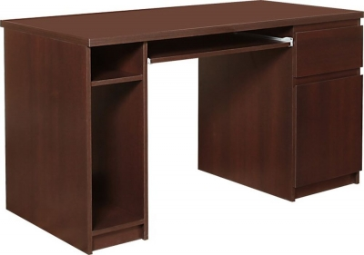 Pello Dark Mahogany Twin Pedestal Desk