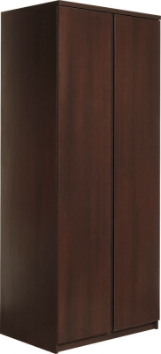 Pello Dark Mahogany Wardrobe - 2 Door
