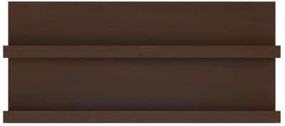 Pello Dark Mahogany Wall Shelf