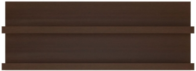 Pello Dark Mahogany Wide Wall Shelf