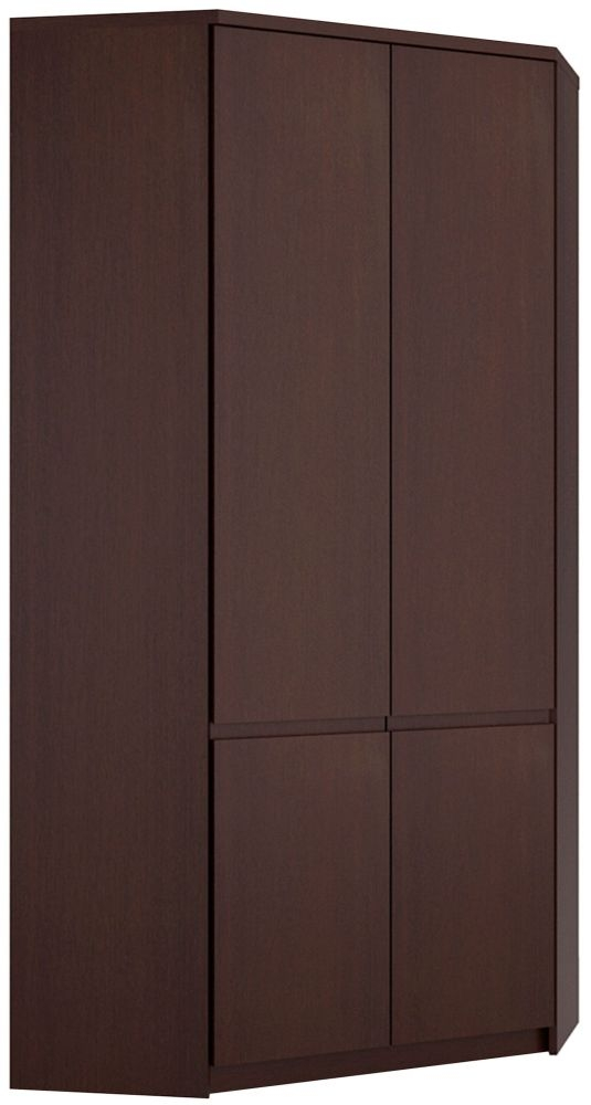 Pello Dark Mahogany Corner Wardrobe