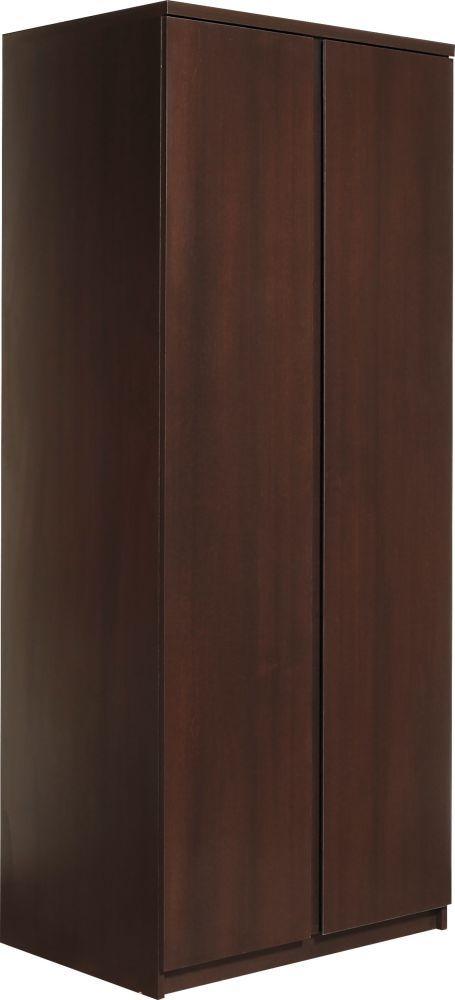 Pello Dark Mahogany Wardrobe - 2 Door
