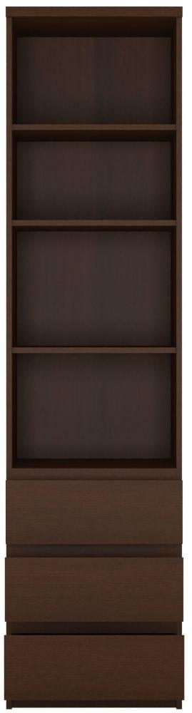Pello Dark Mahogany Bookcase