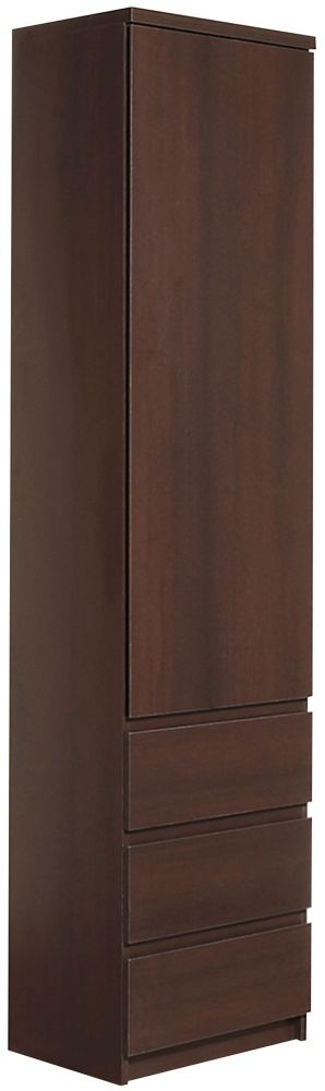 Pello Dark Mahogany Tall Narrow Cupboard