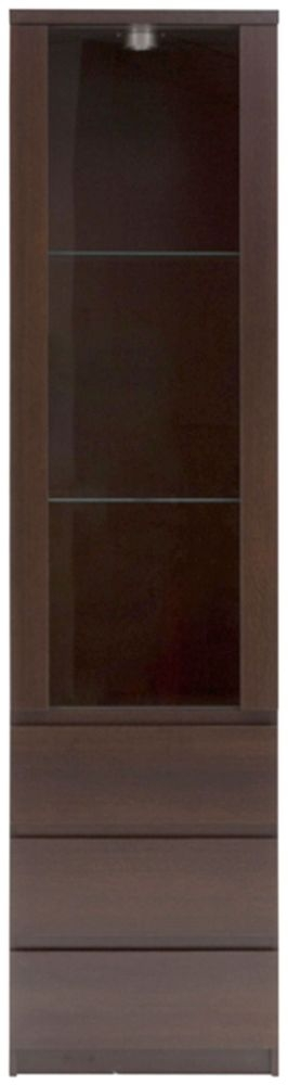 Pello Dark Mahogany Glazed Display Cabinet