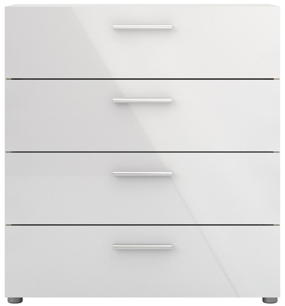 Pepe 4 Drawer Chest - Oak and White High Gloss